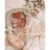 Kép 2/2 - Lily len babafészek masnival - natúr